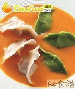 南瓜汤饺的做法