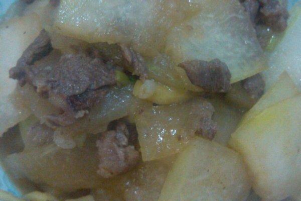 清凉消火冬瓜炒牛肉的做法