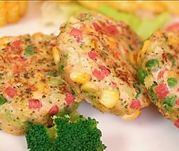 蔬菜鸡肉饼的做法