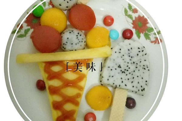 水果拼盘冰淇淋的做法_【图解】水果拼盘冰淇淋怎么做图片