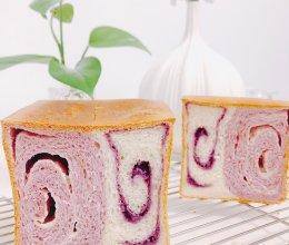 #豆果10周年生日快乐#美翻天的芋泥芝芝奶酪吐司的做法