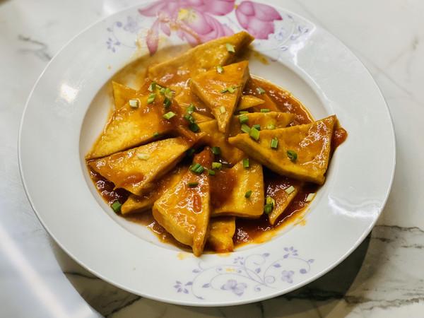 茄汁烩豆腐的做法