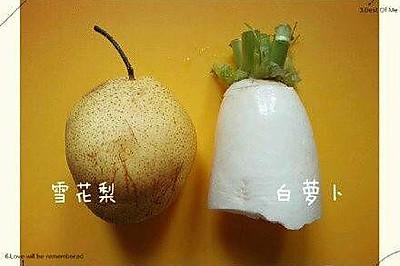 白萝卜雪梨水——止咳祛痰