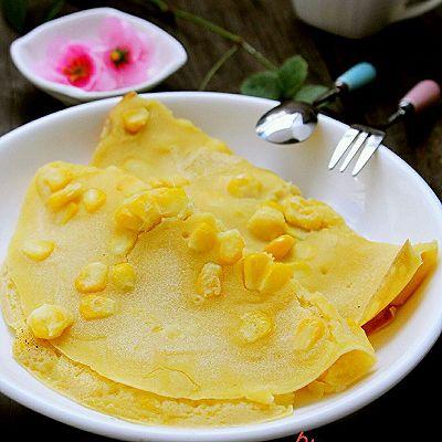 香甜玉米饼~元气早餐
