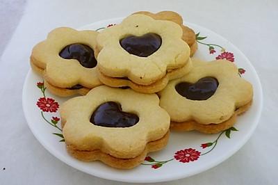 酥松的巧克力夹心饼干#长帝烘焙节#
