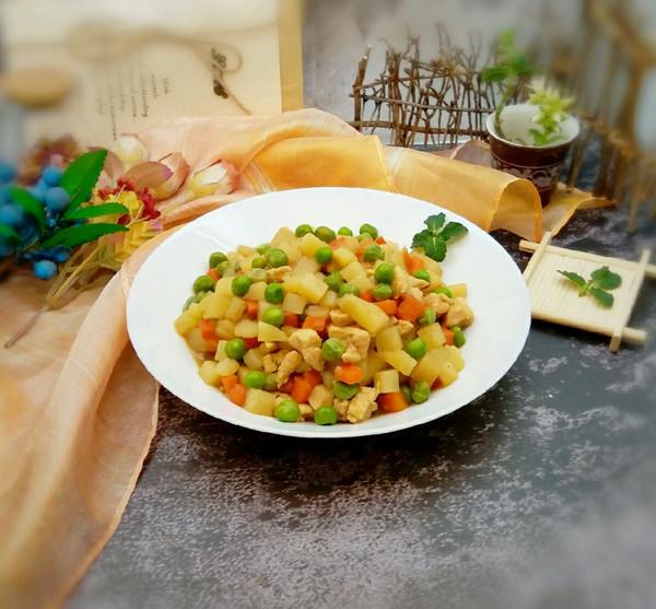 #花10分钟,做一道菜!#鸡肉土豆丁的做法
