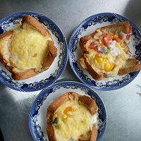 烤燕麦土司早餐饼