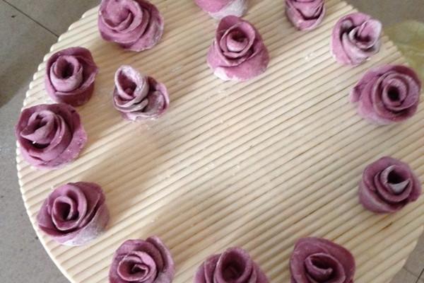 玫瑰花馒头的做法