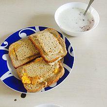 【元气早餐】芝士鸡蛋培根吐司