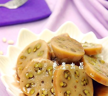 绿豆酿藕的做法