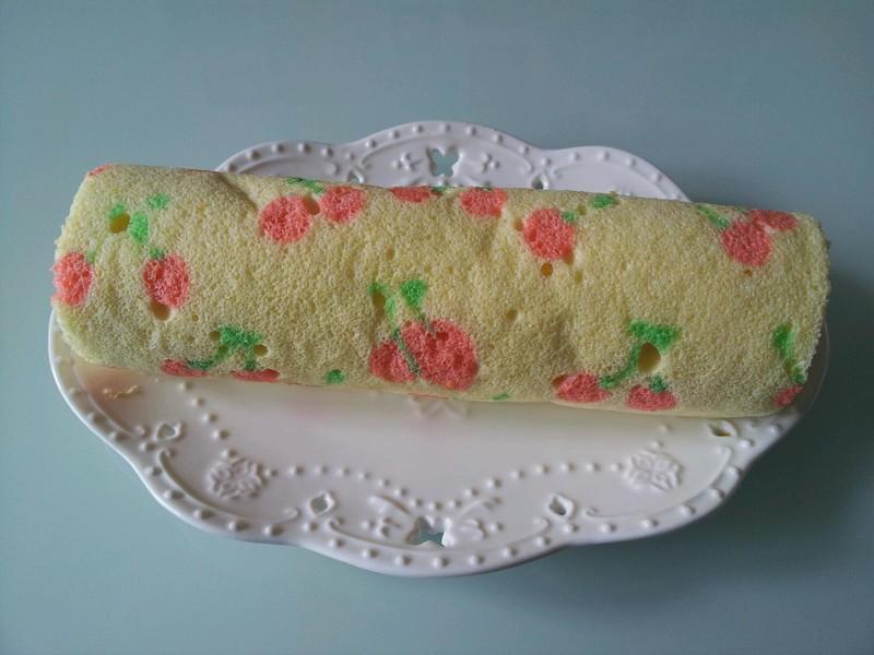 手绘樱桃蛋糕卷