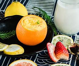 会散发出橙子香气的牛奶蛋羹的做法