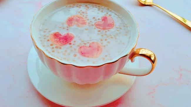 软糯Q弹的水蜜桃西米露|附煮晶莹剔透的西米露的做法