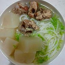 萝卜排骨汤+汤粉