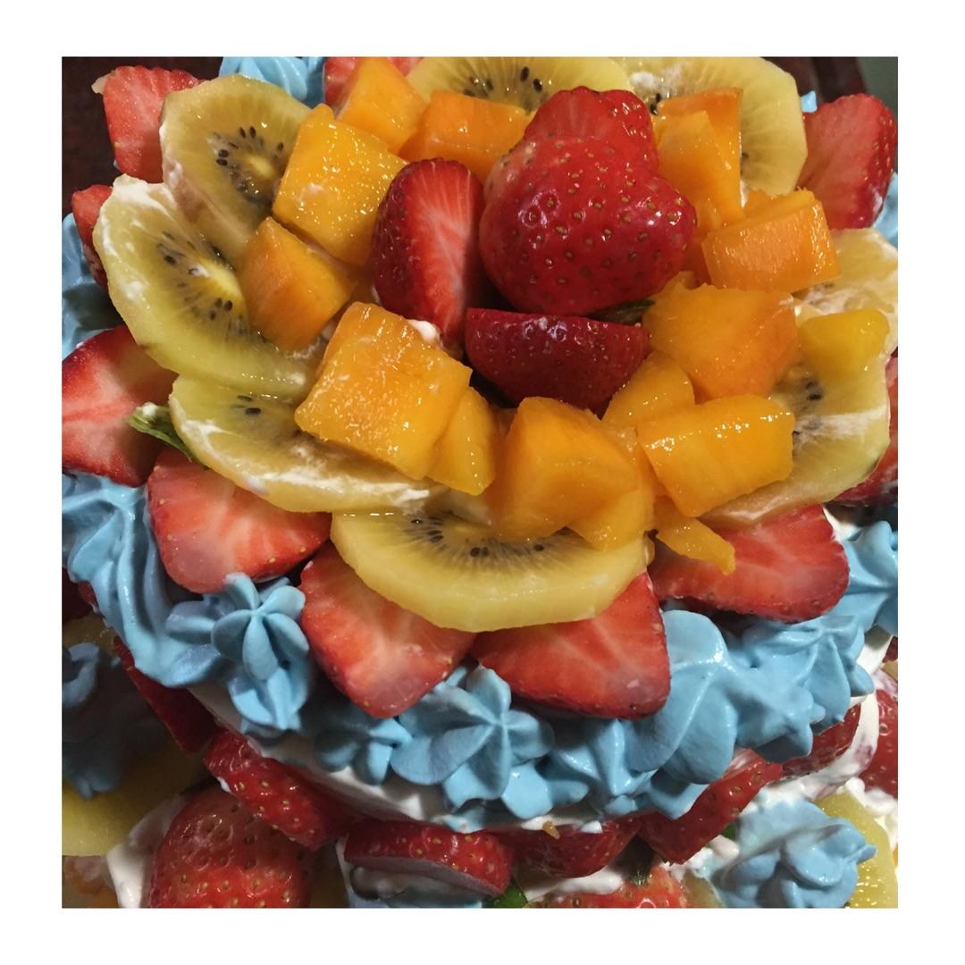 草莓芒果夹心蛋糕的做法图解16