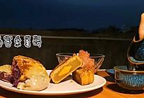"""紫薯芝士饼#甜蜜暖冬,""""焙""""感幸福#的做法"""