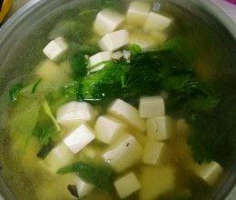 快手减脂青菜豆腐汤的做法