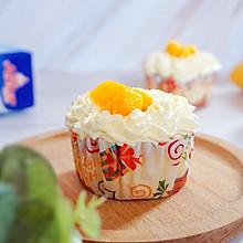 不回缩的芒果奶油cupcake#安佳儿童创意料理#