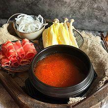 #冬天就要吃火锅#一个人的番茄酸汤肥牛暖锅