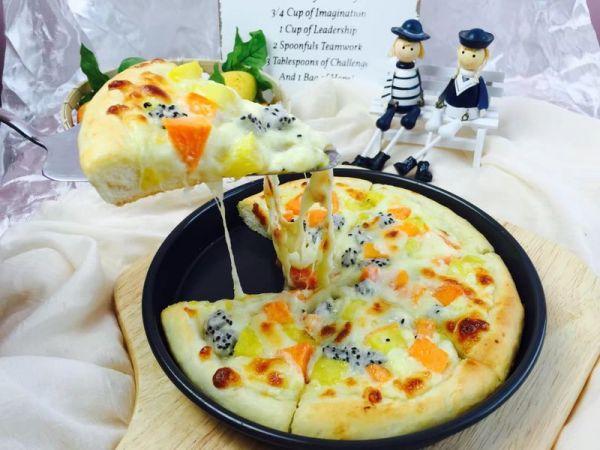 什锦水果披萨的做法