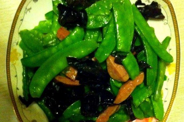 荷兰豆小炒的做法步骤图片