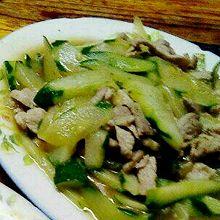 青瓜炒瘦肉
