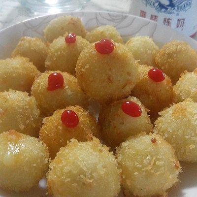 虾仁土豆球