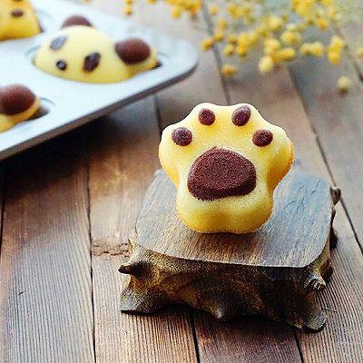 猫爪玛德琳蛋糕#蒸派or烤派#