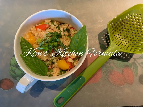 酱油炒菜花米饭,减脂期的假炒饭的做法