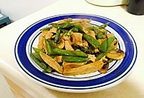 尖椒平菇快炒素鸡的做法