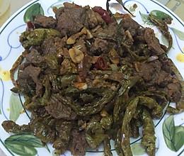 干辣椒炒牛肉的做法