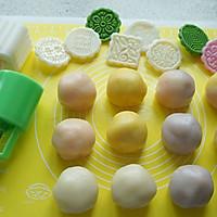 白豆沙蛋黄冰皮月饼的做法图解3