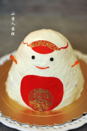 九阳烘焙剧场#小雪人蛋糕