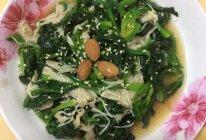 凉拌菠菜金针菇的做法