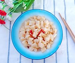 清脆麻辣莲藕丁。的做法