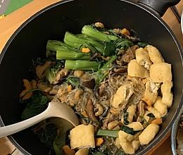 杂菜虾米粉丝煲的做法