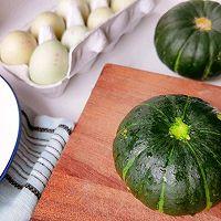 #栗香好粉糯 营养有食力#粉糯嫩滑板栗南瓜蒸蛋的做法图解1
