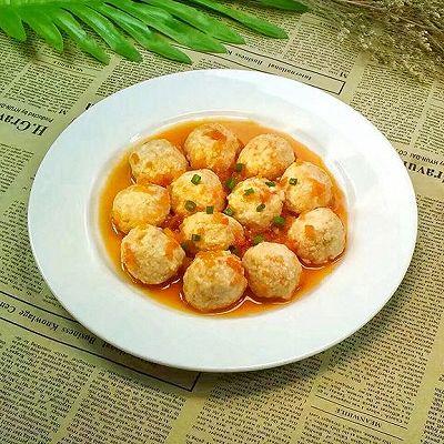 番茄虾肉豆腐丸