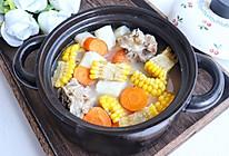玉米山药筒骨汤的做法