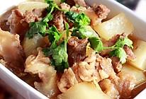 萝卜炖牛肉筋-冬季暖身的做法