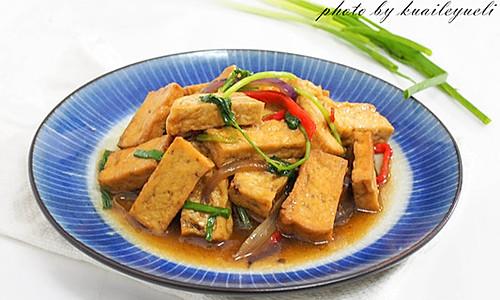 葱烧老豆腐的做法