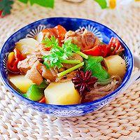 #就是红烧吃不腻!#土鸡土豆粉条一锅炖的做法图解18
