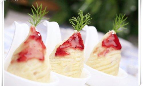奶香草莓薯泥的做法