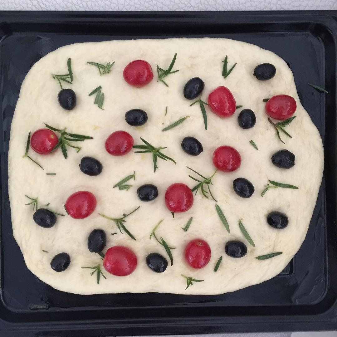佛卡夏面包#美的烤箱菜谱#的做法图解6