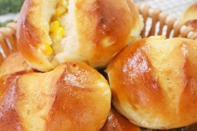 超软奶香玉米小面包❗65度汤种法