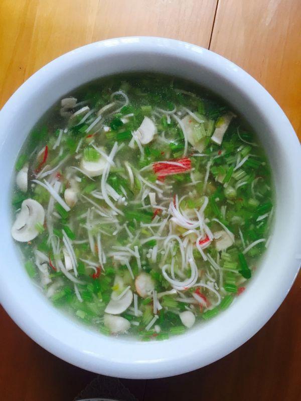 虾米蟹棒芹菜羹
