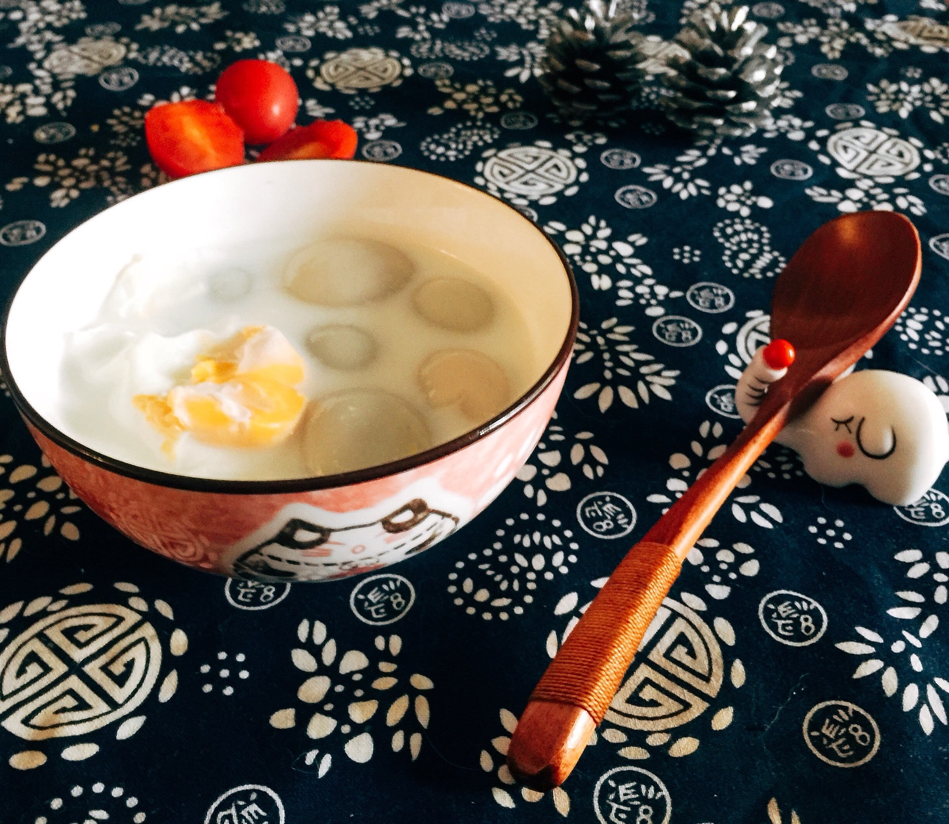 牛奶汤圆—加蛋版的做法图解4