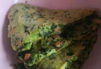 菠菜(胡萝卜)鸡蛋饼平底锅做法的做法