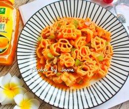 番茄鸡汁卡通意粉#太太乐鲜鸡汁西式#的做法