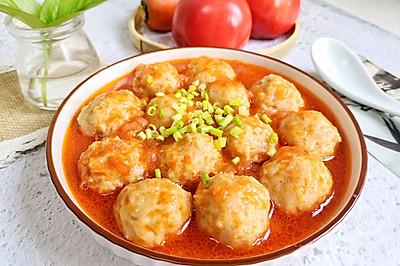 茄子鸡肉莲藕丸子,鲜美可口好吃不胖!